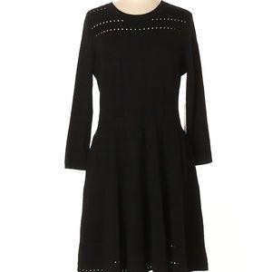 Eliza J Size XL Casual Dress Black